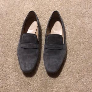 jcrew gray suede flats